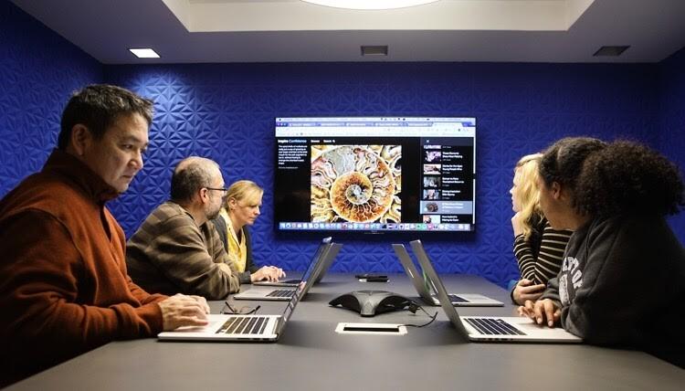 Brightspot team members in a meeting