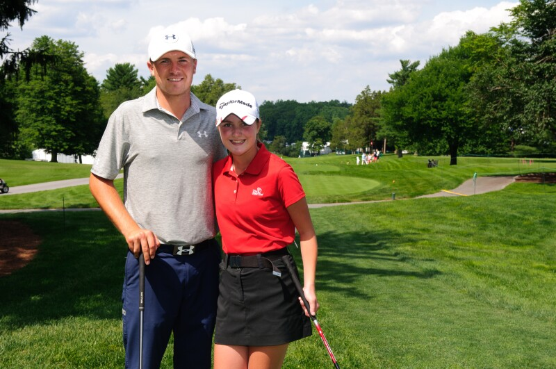 Kelsey Wessels from The First Tee of Greater Cincinnati and Northern Kentucky plays the 18th hole with her idol, Jordan Spieth.