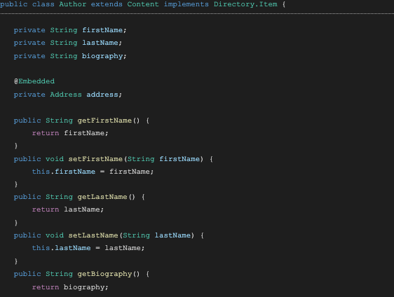 screenshot of code with GraphQL query