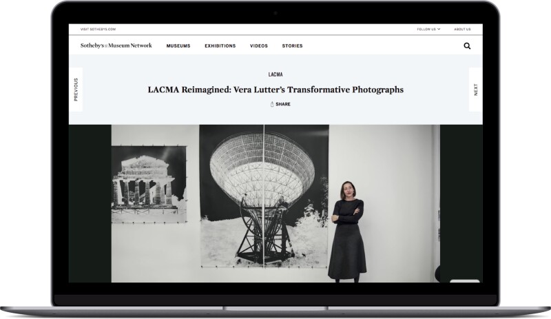 Laptop with Sothebys website