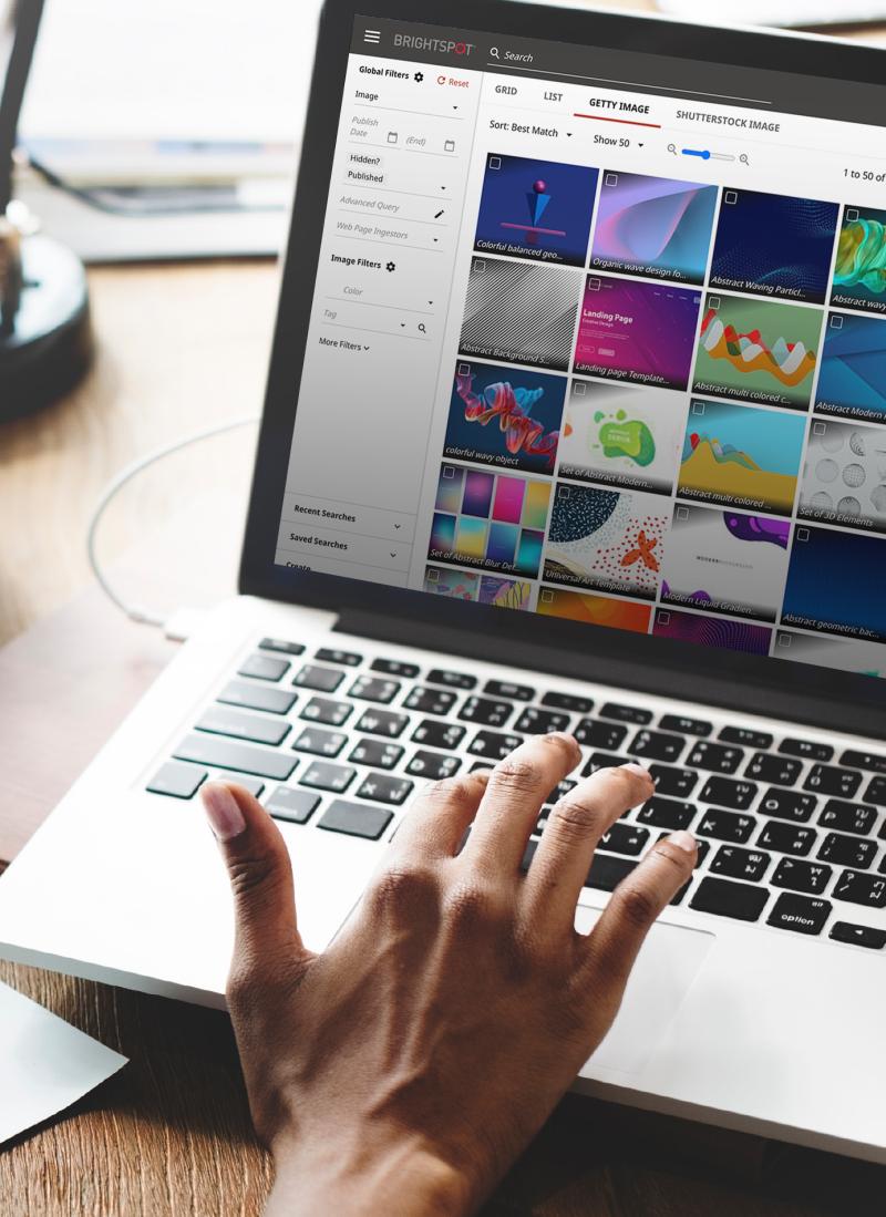 screenshot of Brightspot Media Desk, a digital asset management solution