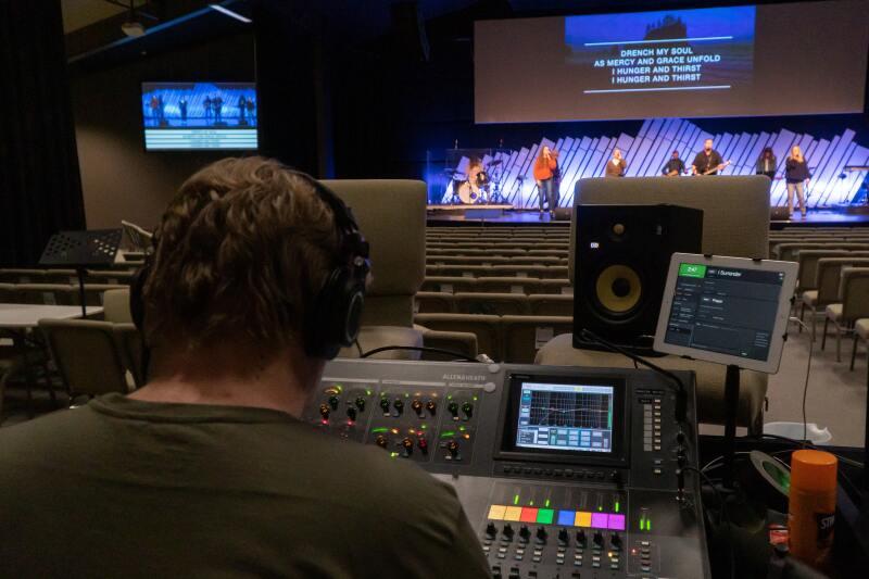 image of broadcast media studio setup