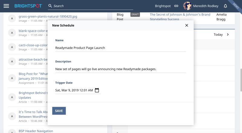 Creating a new Bulk Schedule