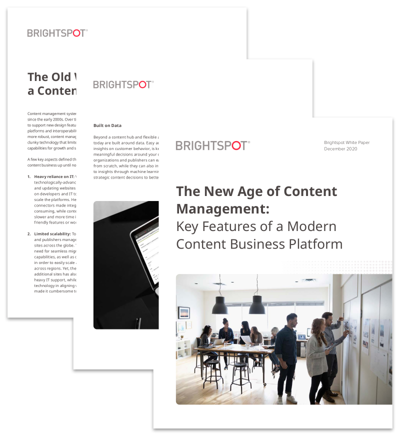 new age content management white paper promo