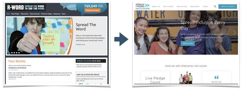 Spread the Word Inclusion Website Rebrand