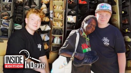 Teen Stabbed at School Gives Away Shoes to Help Heal PTSD
