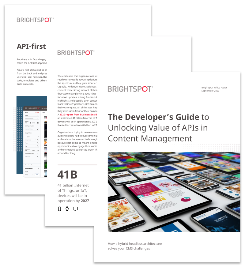 The Developer's Guide to Unlocking Value of APIs in Content Management promo image