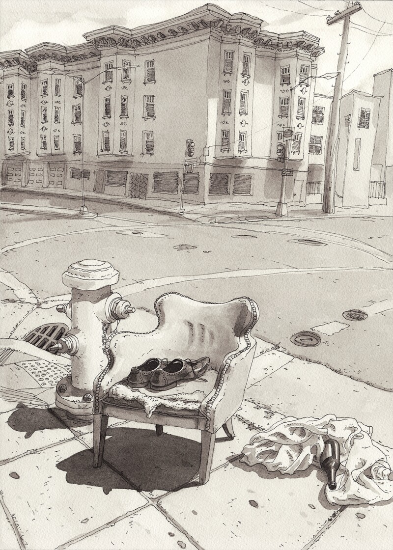 Paul-Madonna__All-Over-Coffee_Eviction-02_IMAGE---Chair-on-street