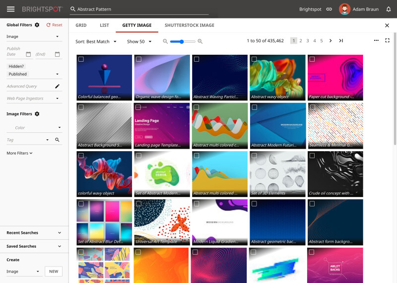 Adobe Experience Manager vs Brightspot: Federated Search screenshot