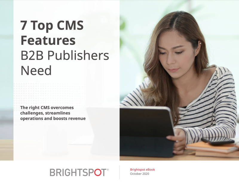 CMS for B2B Publishers eBook promo