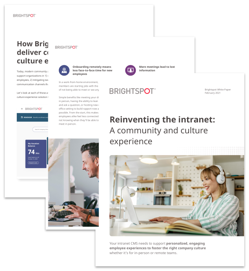 reinventing the company intranet whitepaper promo