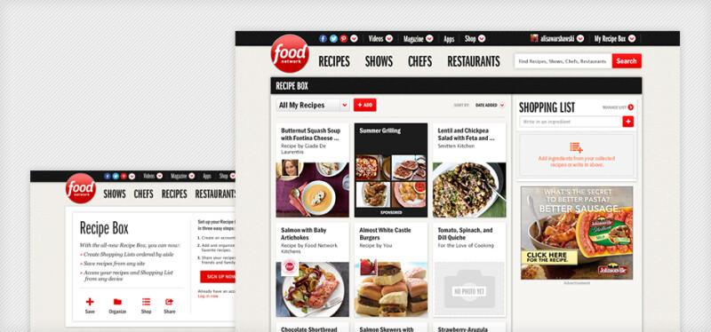 Food Network Screens