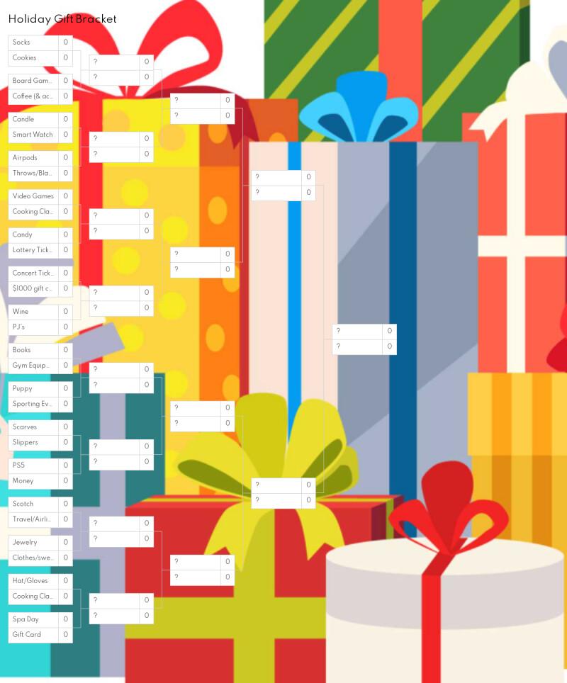 screenshot of Brightspot holiday gift bracket