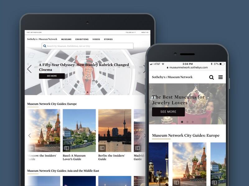 Mobile Sothebys website