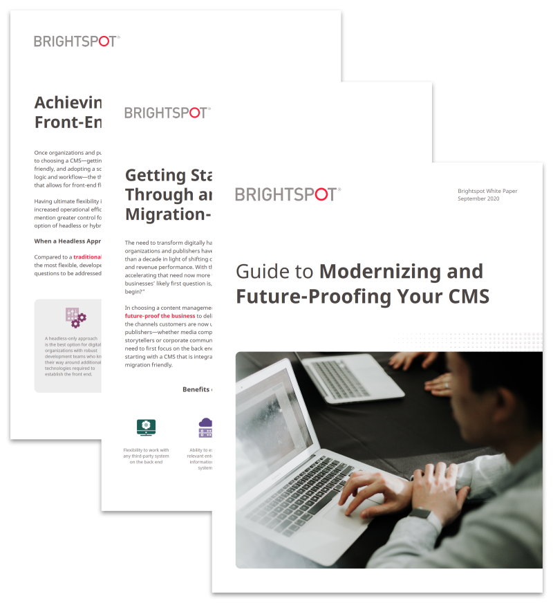Guide to Modernizing and Future-Proofing Your CMS promo