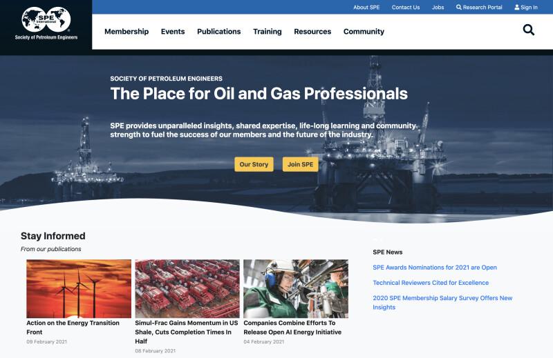Society of Petroleum Engineers website