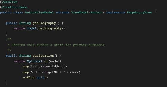 example of Brightspot GraphQL query code