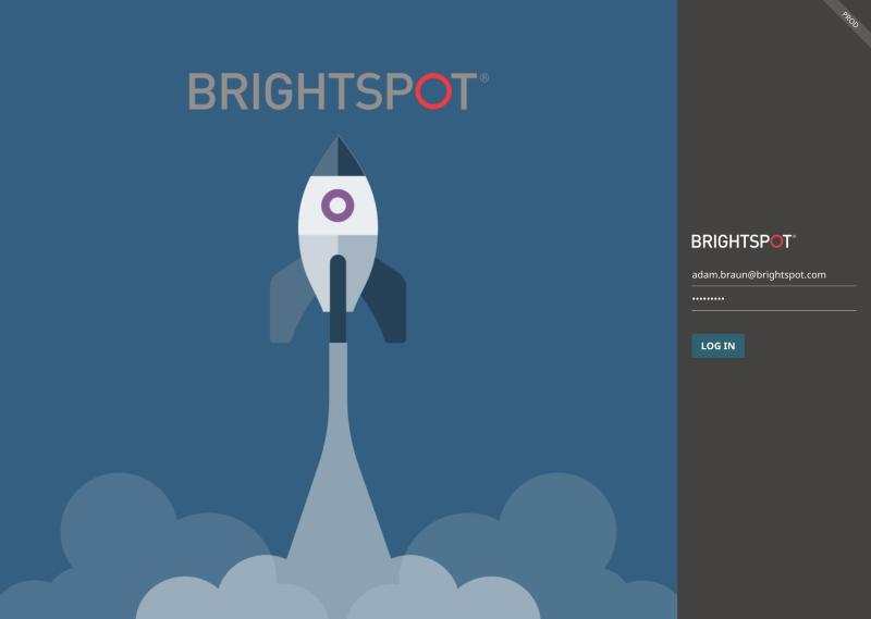 screenshot of Brightspot CMS login screen