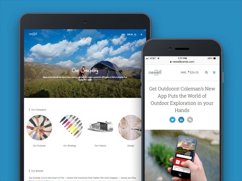 Mobile Newell website