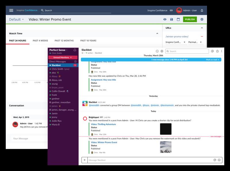 Brightspot Slack integration