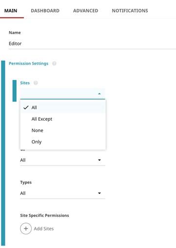 Brightspot 4.0 permissions settings