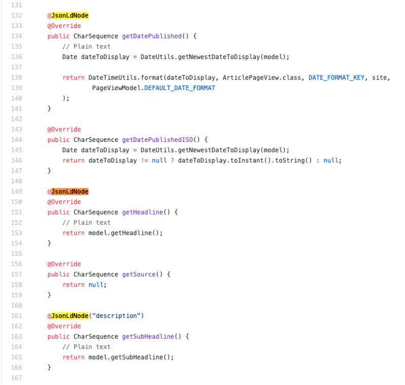 Brightspot's use of annotations for it's JSON-LD helper-class